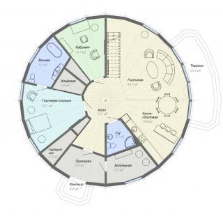 планировка купольного дома