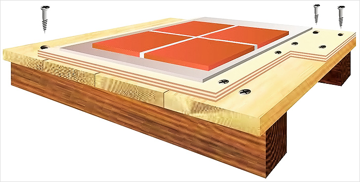 кафель на деревянный пол