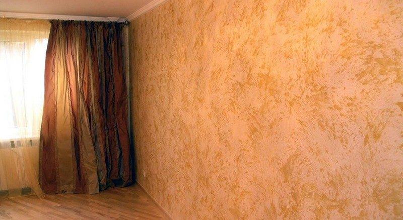 Как наносить декоративную краску для стен