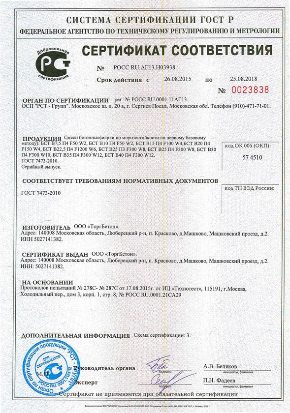Сертификат смеси бетонные тяжелого бетона бст азнакаево бетон