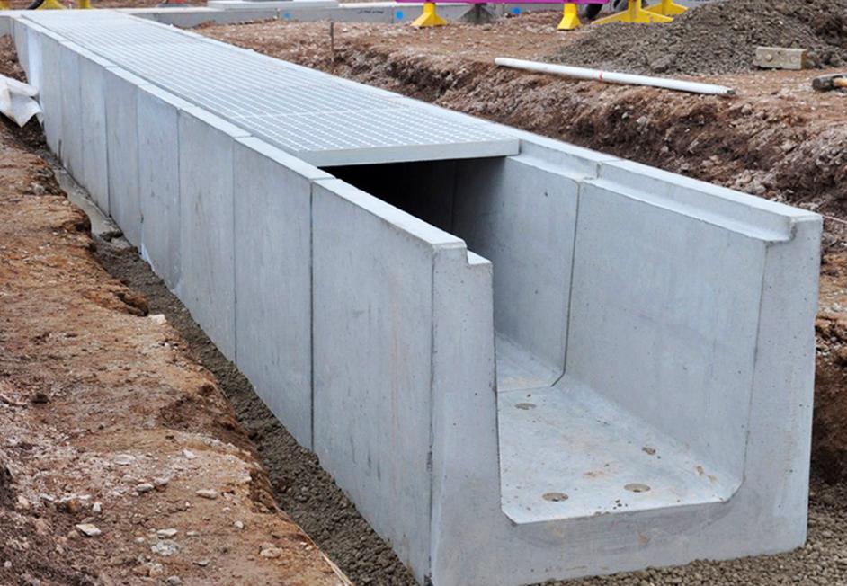 Водоотводной бетонный лоток